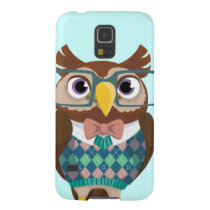 Cte Nerdy Glasses Owl Galaxy S5 Case