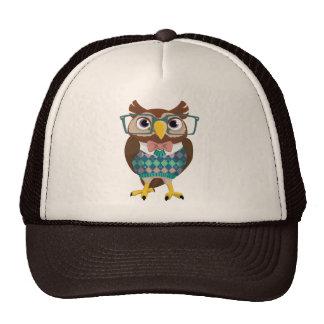 Cte Nerdy Glasses Owl Mesh Hat