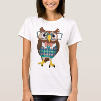 Cte Nerdy Glasses Owl T-Shirt