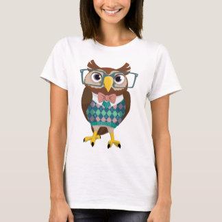 Cte Nerdy Glasses Owl T-Shirt