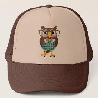 Cte Nerdy Glasses Owl Trucker Hat
