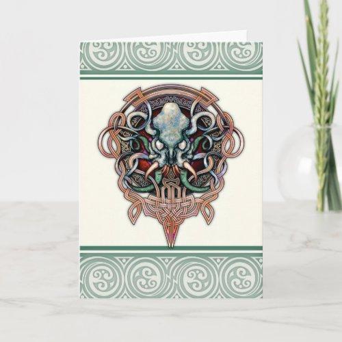 Ctheltic Cthulhu Greeting Card