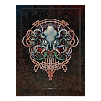 """Ctheltic Cthulhu Poster (18x24"""")"""