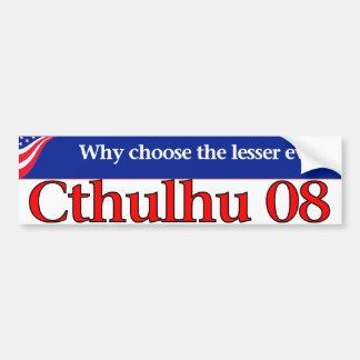 Cthulhu 08 etiqueta de parachoque