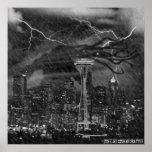 Cthulhu asalta el poster de Seattle