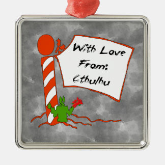 Cthulhu Christmas Metal Ornament