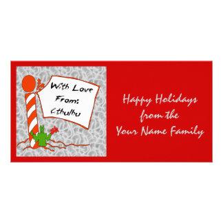 Cthulhu Christmas Custom Photo Card