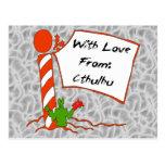 Cthulhu Christmas Post Card