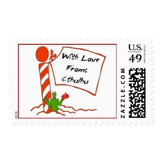 Cthulhu Christmas Postage Stamp