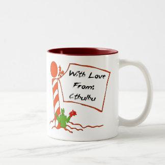 Cthulhu Christmas Two-Tone Coffee Mug