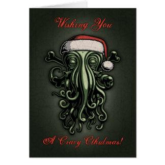 Cthulhu Claus (Card w/ inside greeting) Card