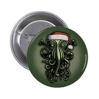 Cthulhu Claus Pinback Button