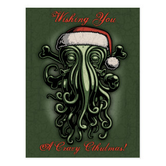 Cthulhu Claus Postcard