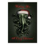 Cthulhu Claus (tarjeta con el saludo interior) Tarjeta De Felicitación