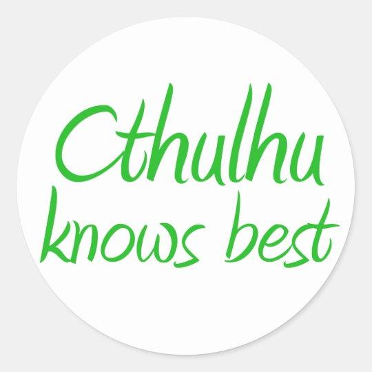 Cthulhu conoce a los mejores pegatinas pegatina redonda