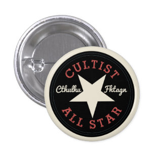 Cthulhu Cultist All Star Pinback Button
