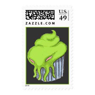 Cthulhu Cupcake Postage Stamp