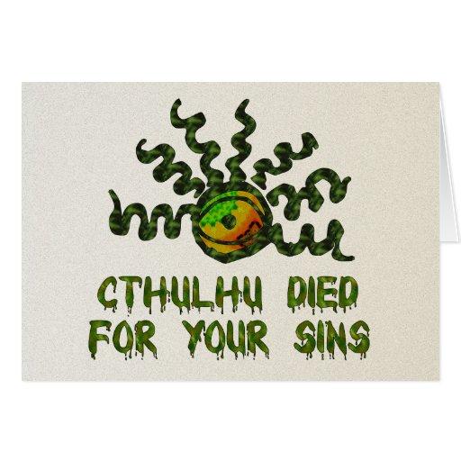 Cthulhu Died Card