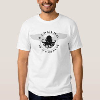 Cthulhu es mi camiseta básica del copiloto remeras