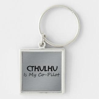 Cthulhu es mi copiloto llaveros personalizados
