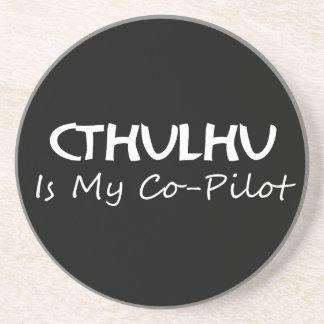 Cthulhu es mi copiloto posavasos personalizados
