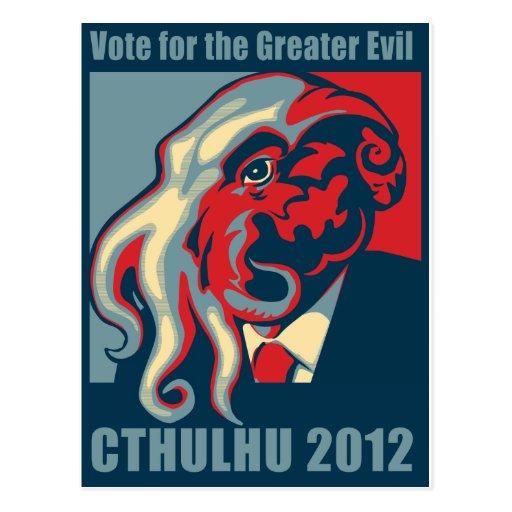 Cthulhu for President- 2012 Postcard