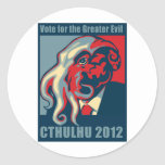 Cthulhu for President- 2012 Round Stickers