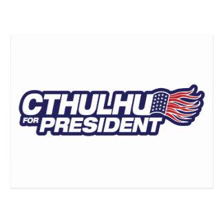 Cthulhu for President Postcard