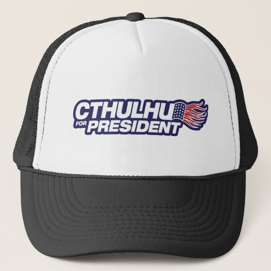 cthulhu for president trucker hat