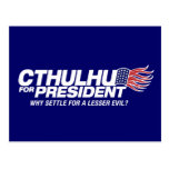 cthulhu for president - why settle for a lesser ev postcard