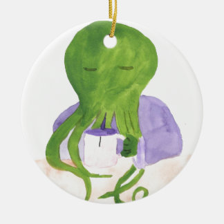 Cthulhu Has A Cup Of Tea Ceramic Ornament