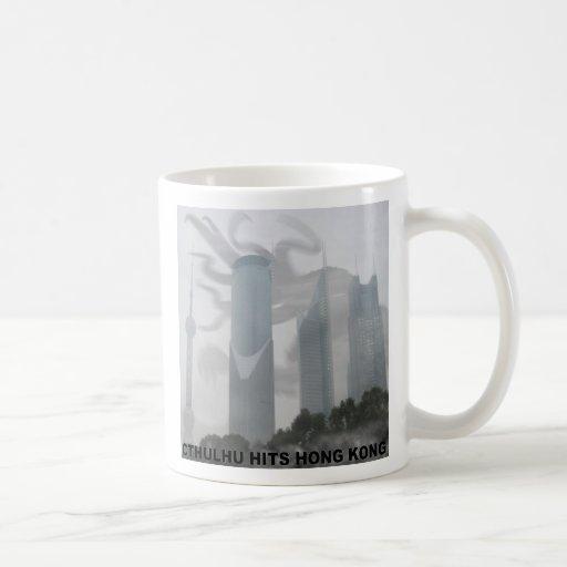Cthulhu hits Hong Kong Coffee Mug
