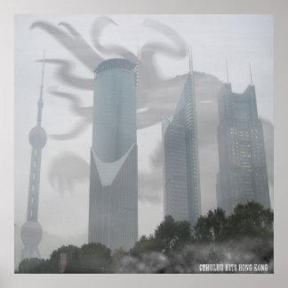 Cthulhu hits Hong Kong Poster