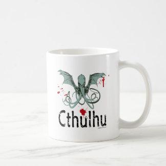 Cthulhu horror vector art classic white coffee mug