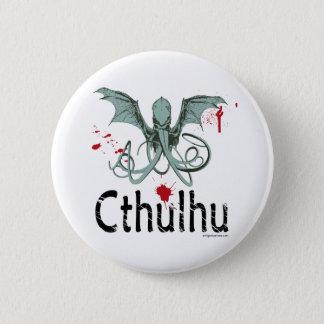 Cthulhu horror vector art pinback button