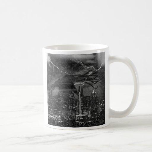 Cthulhu in the Seattle Rain Classic White Coffee Mug