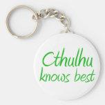 Cthulhu Knows Keychain