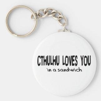 Cthulhu le ama llavero personalizado
