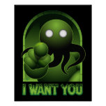 Cthulhu le quiere poster