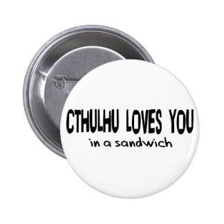 Cthulhu Loves You Pinback Button