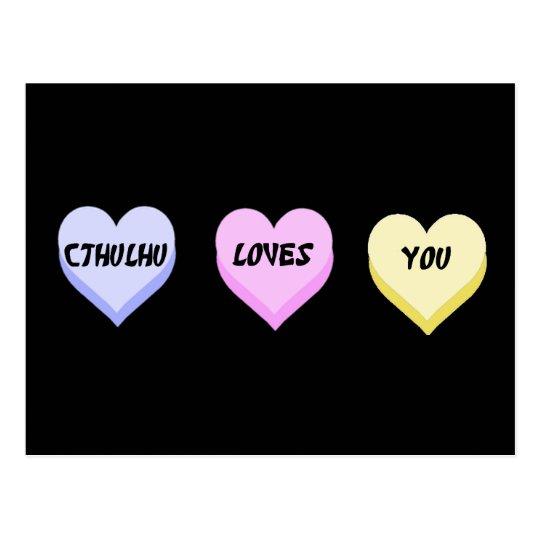 Cthulhu Loves You Postcard