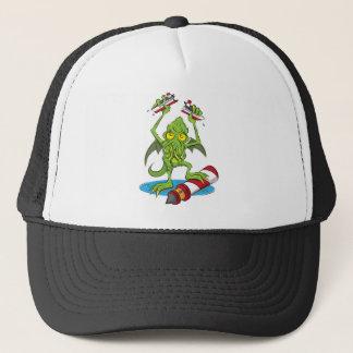 Cthulhu Monster Design by Poisoned Playground Trucker Hat