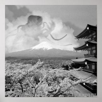Cthulhu Mounts Fuji Poster