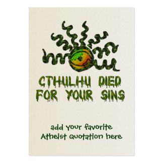 Cthulhu murió tarjetas de visita grandes