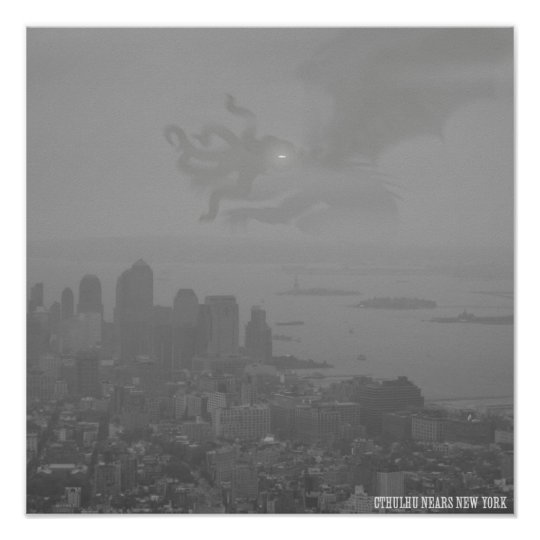 Cthulhu Nears New York Poster