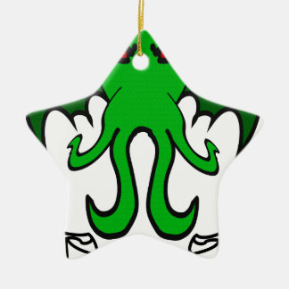Cthulhu - ningún buen hecho va impune adorno navideño de cerámica en forma de estrella