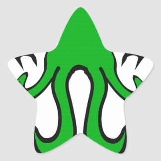 Cthulhu - ningún buen hecho va impune pegatina en forma de estrella
