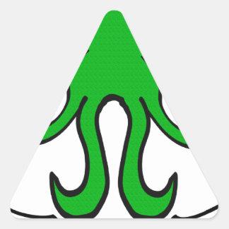 Cthulhu - ningún buen hecho va impune pegatina triangular