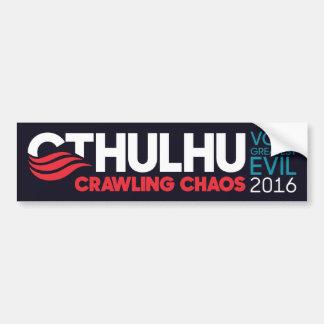 Cthulhu/Nyarlathotep para el presidente 2016 Pegatina Para Auto