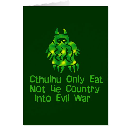 Cthulhu Only Eats Card